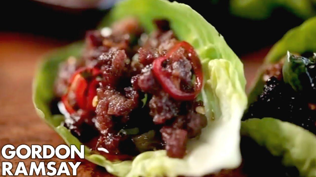 Chilli beef lettuce wraps gordon ramsay youtube forumfinder Images