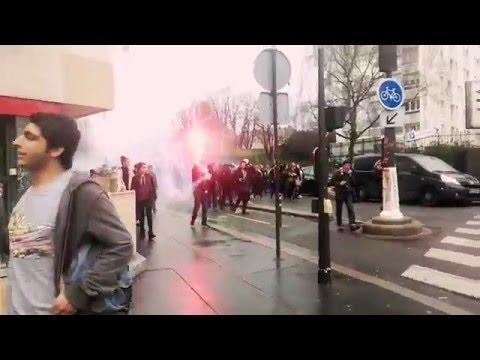 Manifestation lycéeHenri-Bergson dans le XlXe