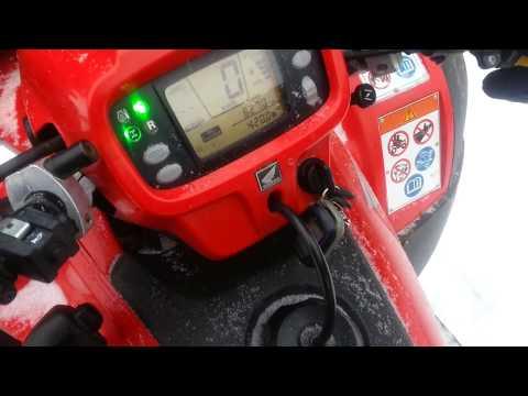 Альтернативный запуск двигателя квадроцикла HONDA TRX 500 FA в мороз?