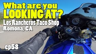 What are YOU looking at? Los Rancheros Taco Shop - Motovlogger