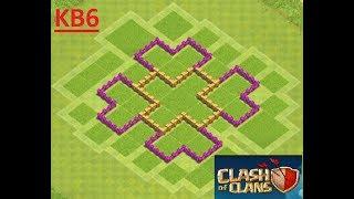 Clash of Clans 6. Seviye Köy Binası Düzeni  [ builder hall 6 ]