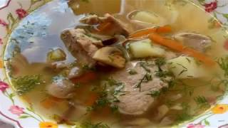 Как Приготовить Грибной Суп !!! Суп из Шампиньонов !!!