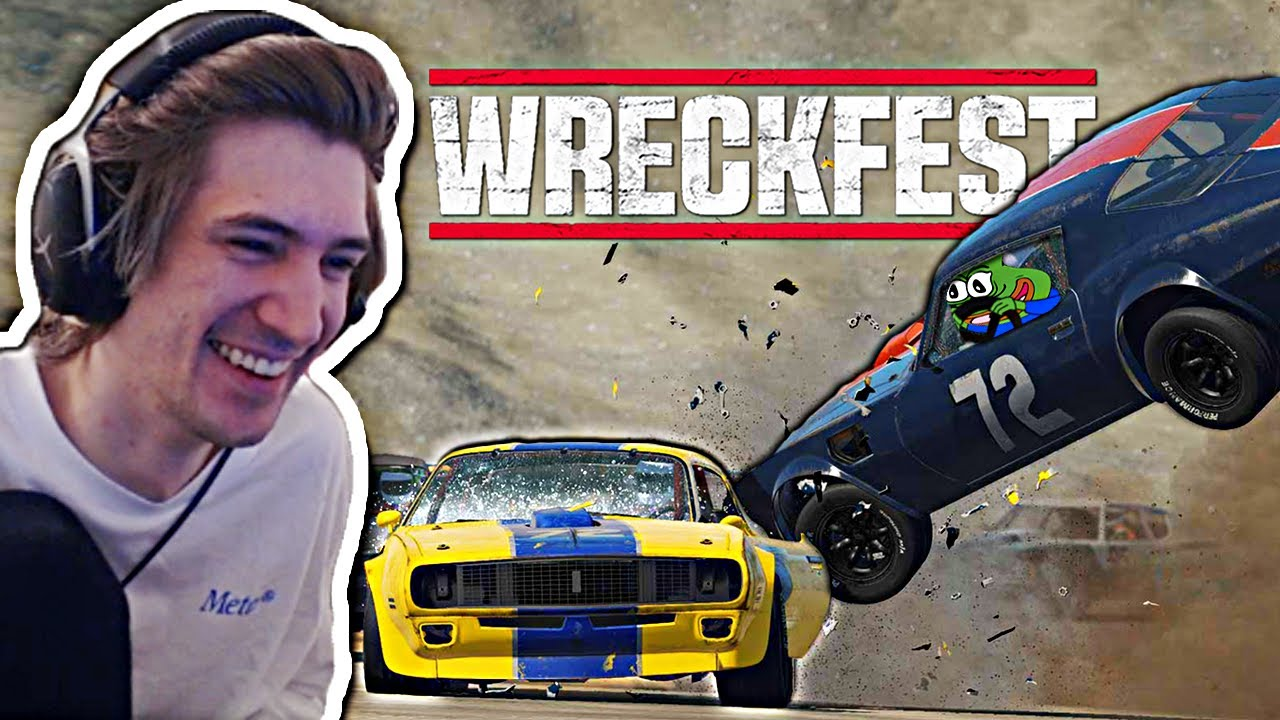 LAWNMOWER LENGYEL IS BACK! - xQc Plays Wreckfest with Stream Snipers