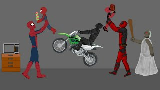 Granny vs Black Panther, Deadpool, Spiderman Animation Parody Drawing Cartoons 2 HD