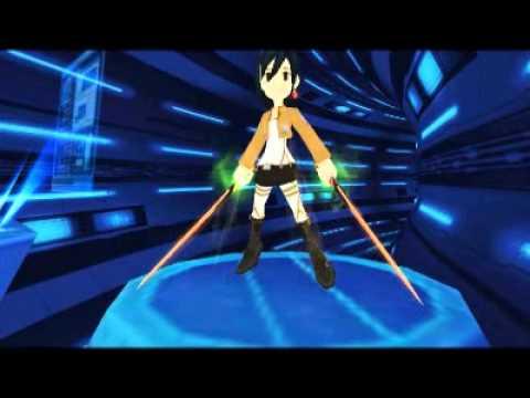 Gear design lostsaga mikasa attack on titan youtube for Design attack