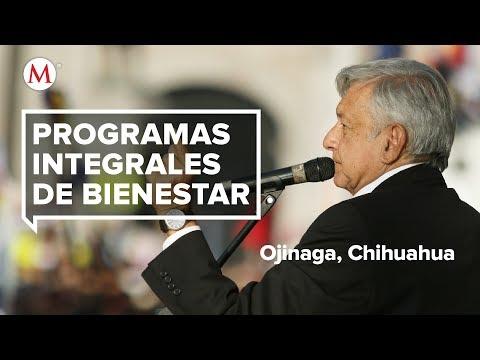 AMLO entrega Programas Integrales del Bienestar en Ojinaga, Chihuahua