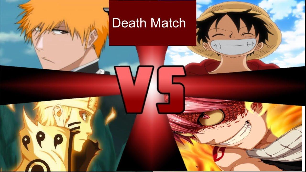 Naruto Uzumaki Vs Monkey D Luffy Vs Ichigo Kurosaki Vs Natsu
