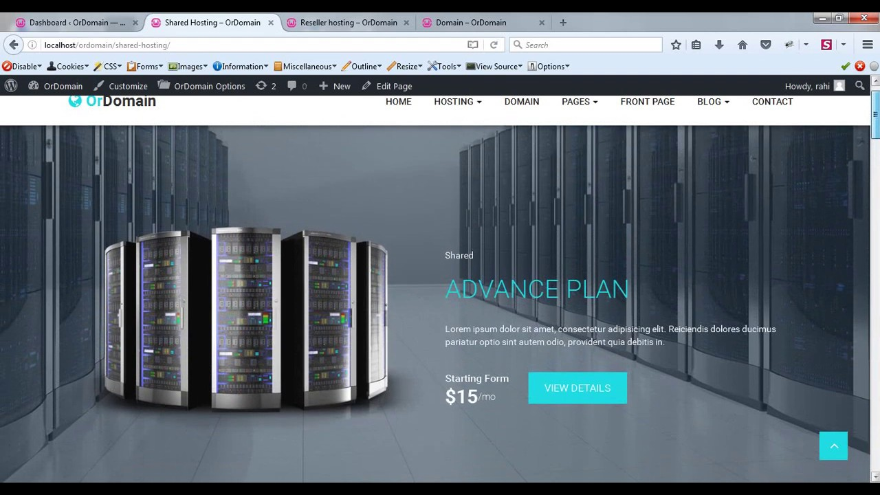 How to Setup Shared Hosting & Reseller Hosting Page | OrDomain ...