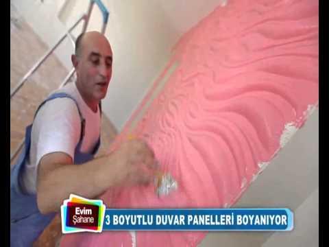 3d Wall Panel Videos Uc Boyutlu Duvar Paneli Boyama Evim