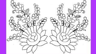 Bugün.... 0.5 mm kurşun Kalem İle Çiçek Çizim Oluşturma