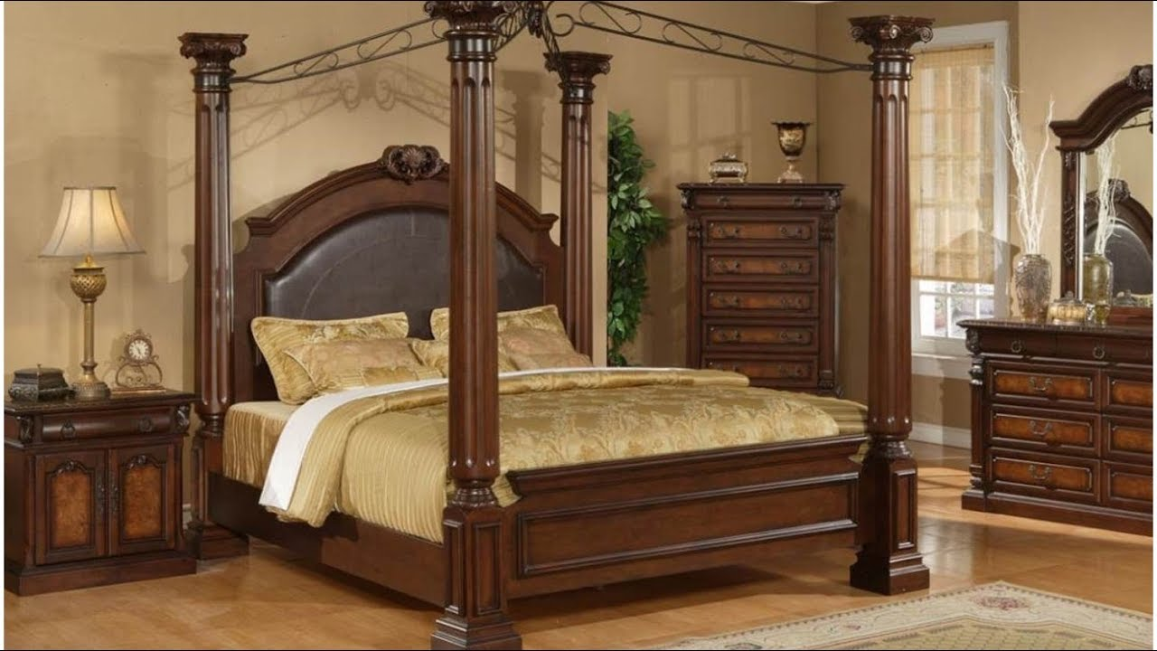 Full size canopy bed frame youtube - Pictures of canopy beds ...