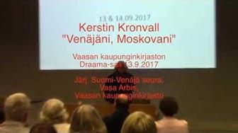 Kerstin Kronvall vierailu 13.9.2017. Kooste