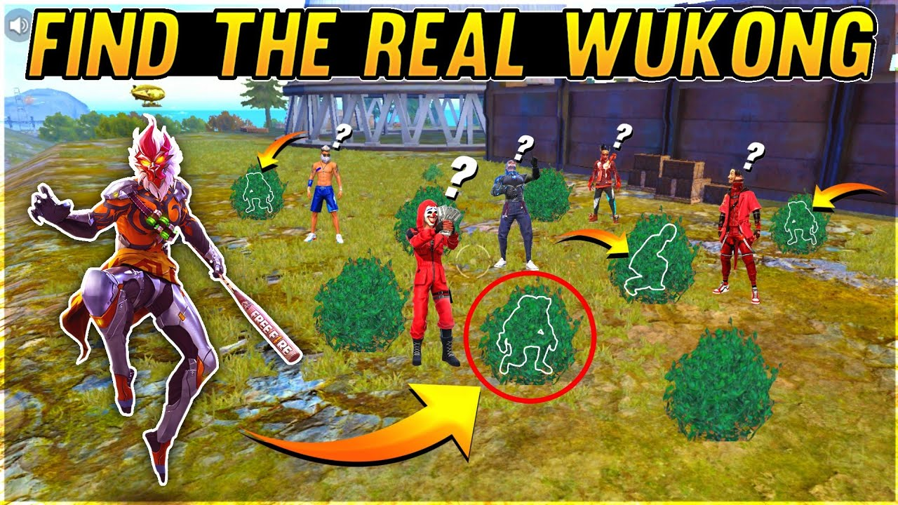 Find The Real Wukong 10000 Diamonds Challenge To All Players - Garena Free Fire