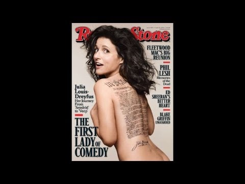 Julia Louis-Dreyfus on Rolling Stone Cover, wrong John Hancock!