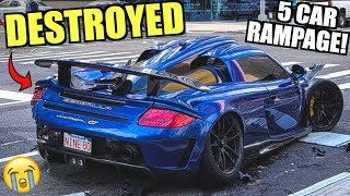 Porsche Carrera GT WRECKED In NYC! ($1 Million Gemballa) Buy it at Salvage Auction?