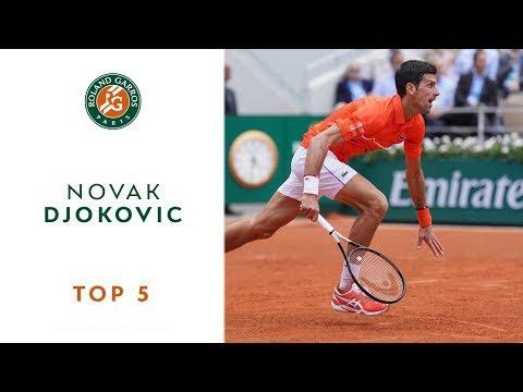 Roland Garros 2019 Top 5 Novak Djokovic Youtube