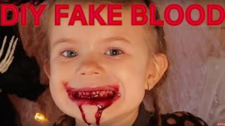 DIY Kunstigt blod - nem opskrift på fake blood