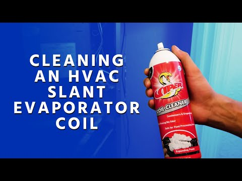 Cleaning an HVAC Slant Evaporator Coil in Place Using Viper