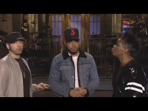 Behind the scenes On SNL funny Eminem Conversations