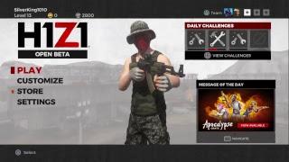H1Z1 (Ps4) Live Stream!