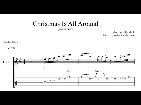 Christmas Is All Around solo TAB - guitar solo tab - PDF - Guitar Pro