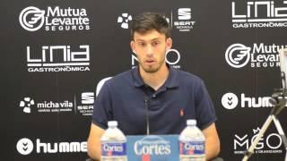 Arturo Navarro, autor del gol en Castalia ante el Peña Deportiva (22/05/2016)