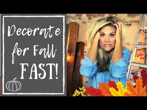 Last Minute Fall Decorations