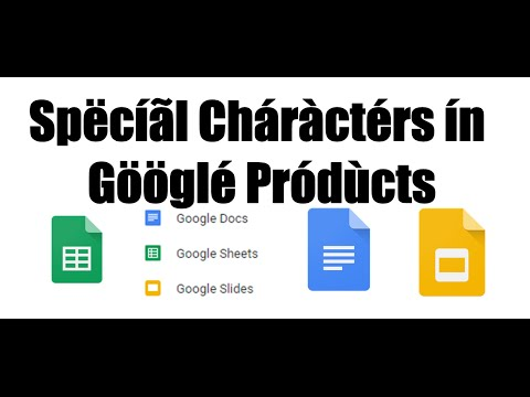 Insert accent marks and special characters in Google drive slides, docs, spreadsheets etc