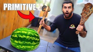 We Built PRIMITIVE Survival WEAPONS!! *Primitive Technology*