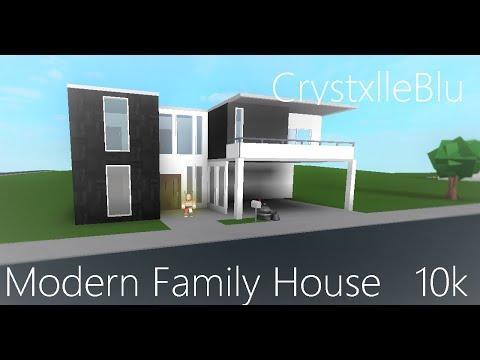 Bloxburg Modern Family House Plandesign 10k - roblox bloxburg speed builds modern 10k