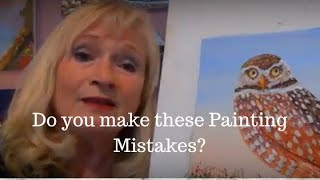 8 WORST Acrylic Painting mistakes beginners make and how to FIX them!!!!