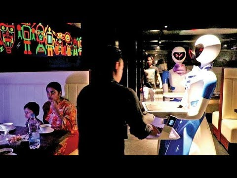 India's First Robot Restaurant Opened In Chennai : Food Served By Robots | TELUGU NET WORLD|