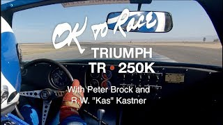 Triumph TR250K with Peter Brock and Kas Kastner