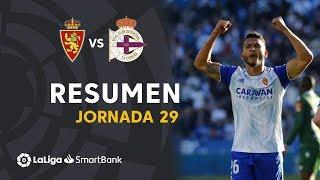 Resumen de Real Zaragoza vs RC Deportivo (3-1)