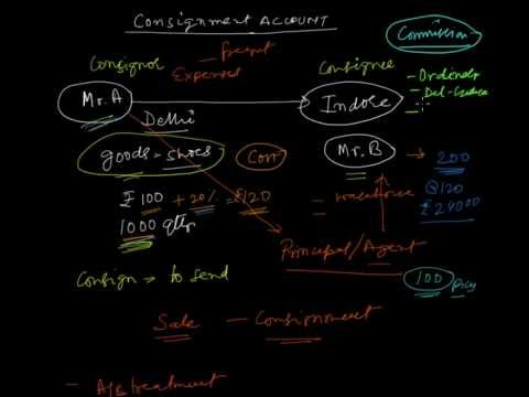 Consignment Accounting   Introduction    in Hindi    YouTube