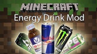 Minecraft Mod รีวิว - Mod ยาชูกำลัง | Energy Drink Mod