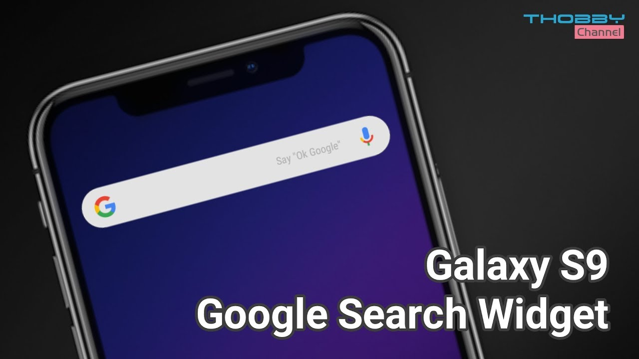 S9 Rounded Google Search Widget On Any Android