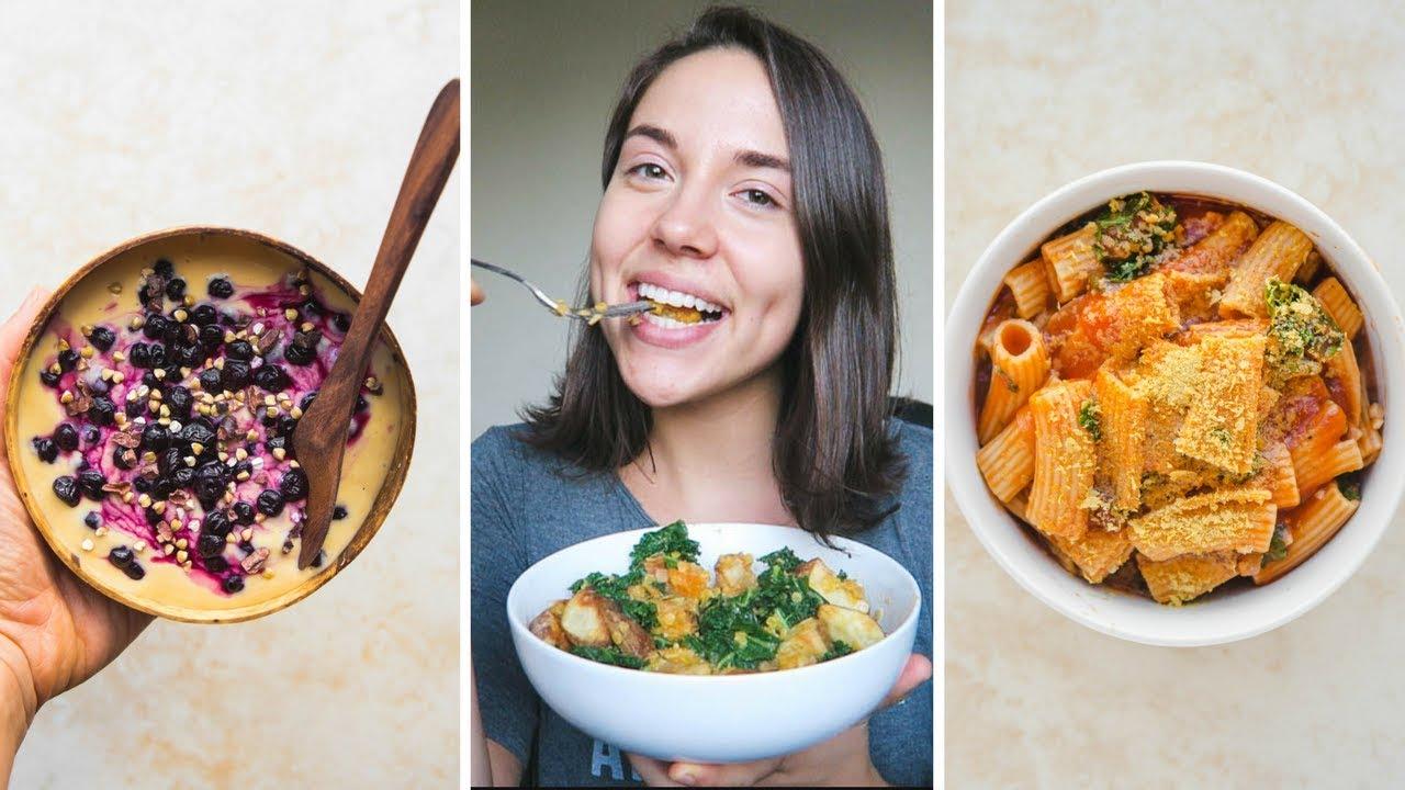 A VERY RANDOM What I Eat in a Day + Fridge Tour (Vegan)