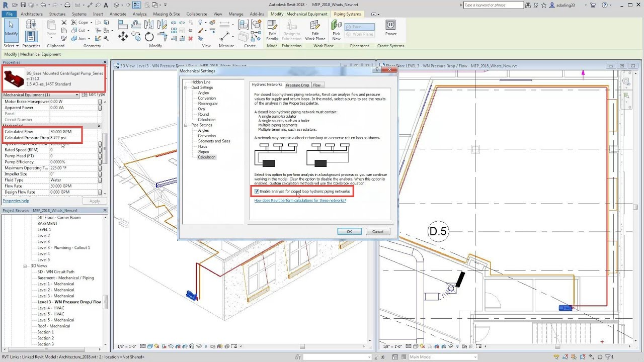 small resolution of revit 2018 new feature revit pressure drop flow