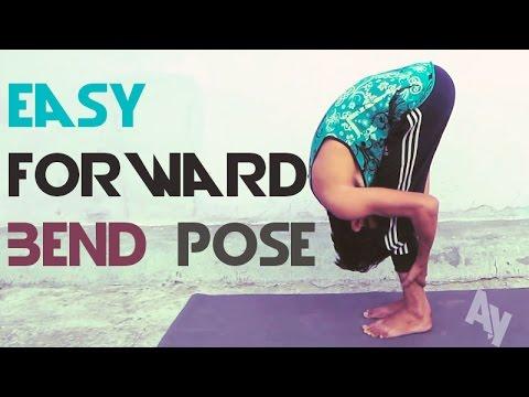 yoga for beginners  easy forward bend pose  uttanasana