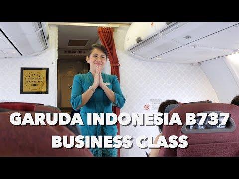 SINGAPURA KE JAKARTA | GARUDA INDONESIA B737-800 REGULAR BUSINESS CLASS