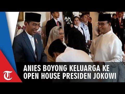 Anies Boyong Keluarga Hadiri Open House Presiden Jokowi