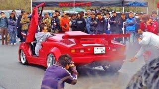 爆音大会 優勝128db 【Track and Show 2015】 車高短 Lowered Lowcar exhaust