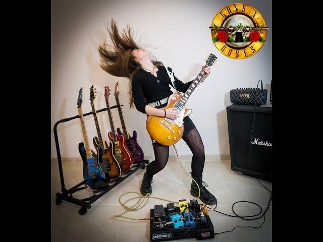 Sweet Child O Mine - Guns N Roses  - Guitar Cover - Federica Golisano 13 Year Old