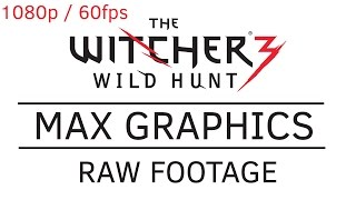 Witcher 3: Wild Hunt Max Graphics PC GTX970, in 1080p / 60FPS Raw Footage