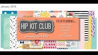 Hip Kit Club - January 2018 unboxing!!!