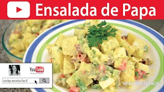 ENSALADA DE PAPA | Vicky Receta Facil HD