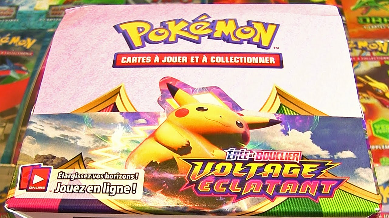 OUVERTURE D'UN DISPLAY POKEMON EB4 VOLTAGE ECLATANT EN ENTIER !