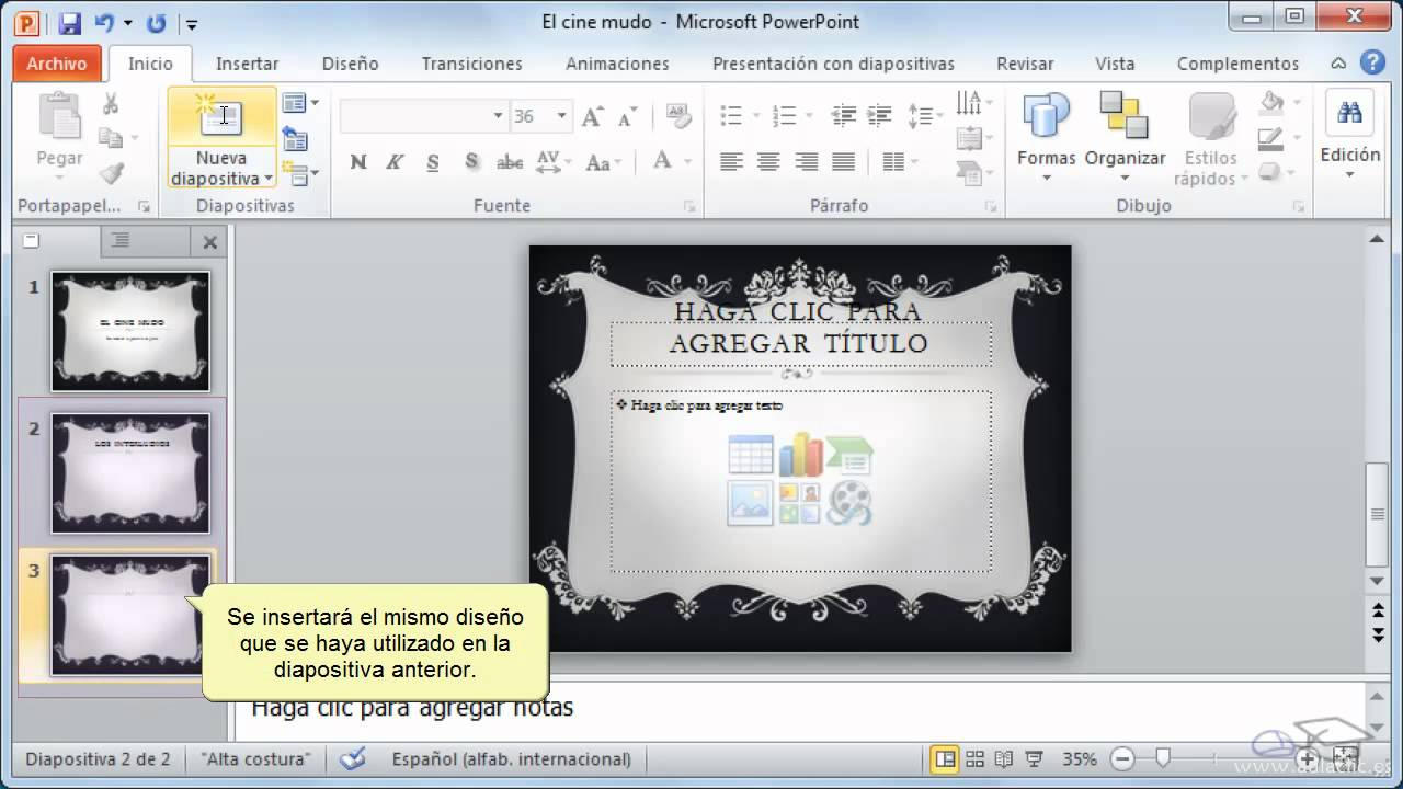 curso de powerpoint 2010  3  trabajar con diapositivas