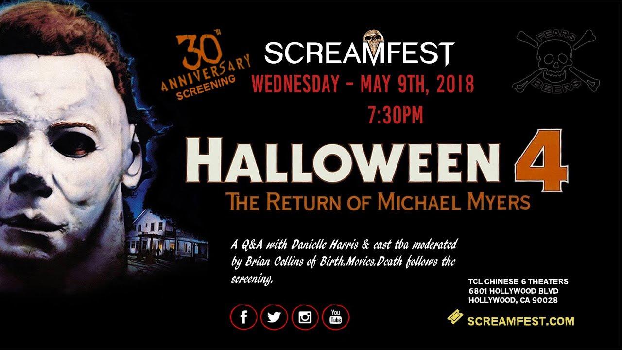 halloween 4 trailer - 30th anniversary screening - youtube